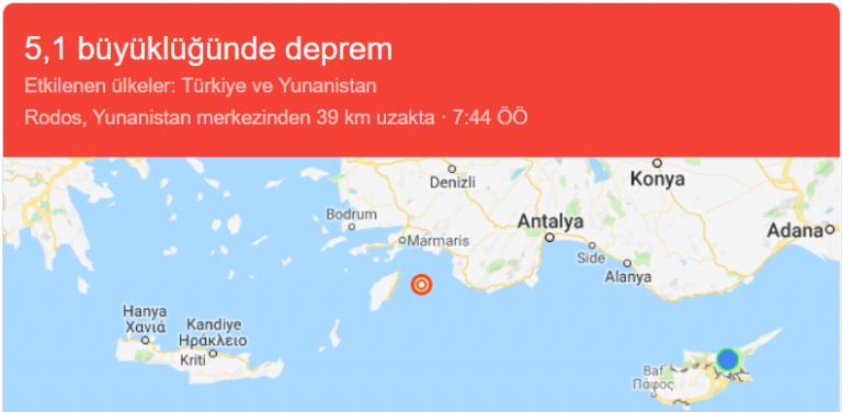 Deprem – Son Dakika!